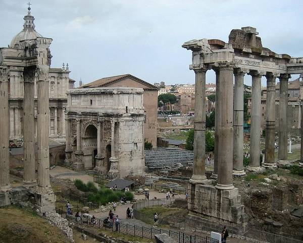 Roman Ruins Poster featuring the photograph Historical Ruins by Fraida Gutovich