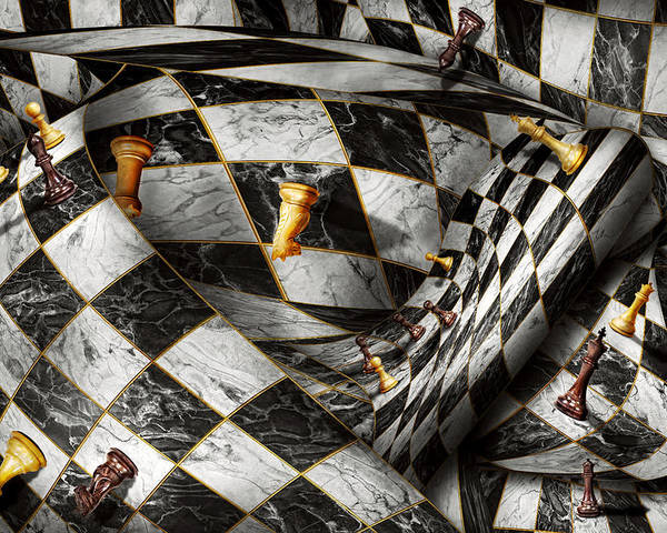 Chess Poster featuring the digital art Hobby - Chess - Your Move by Mike Savad