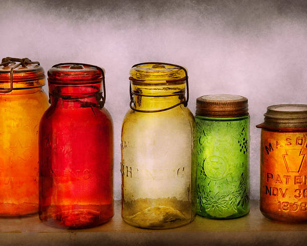 Savad Poster featuring the photograph Hobby - Jars - I'm A Jar-aholic by Mike Savad