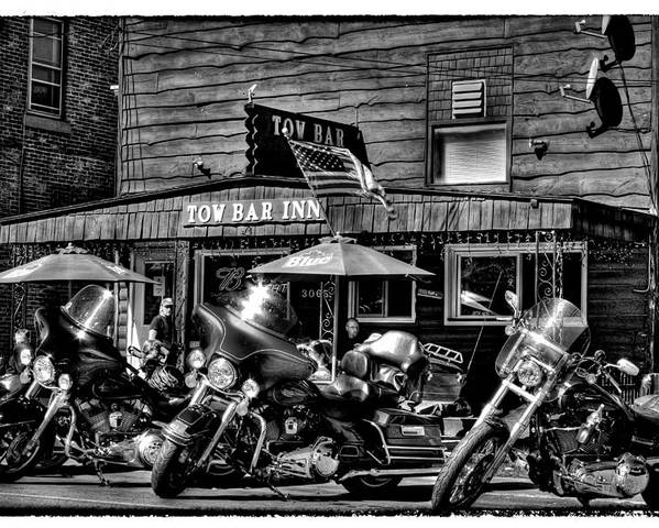 Adirondack's Poster featuring the photograph Hogs At The Tow Bar Inn - Old Forge New York by David Patterson