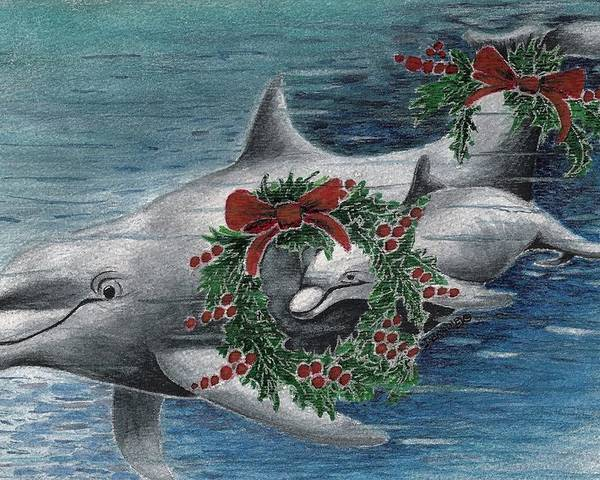 Designs Poster featuring the painting Holiday Smile by Joy Bradley