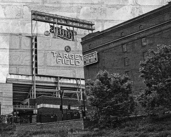 Black And White Poster featuring the photograph Home Of The Minnesota Twins by Susan Stone
