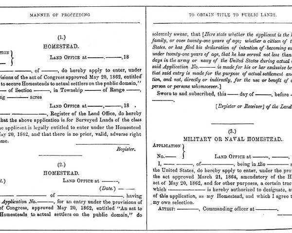 what was the homestead act of 1862