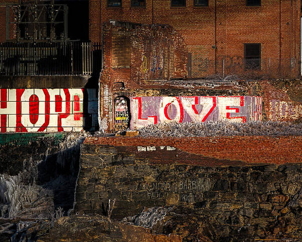 Urban Poster featuring the photograph Hope Love Lovelife by Bob Orsillo