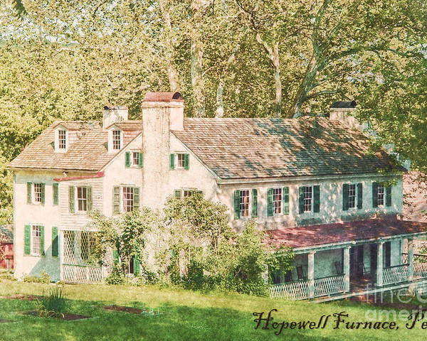 Hopewell Poster featuring the photograph Hopewell Furnace In Pennsylvania by Olivier Le Queinec