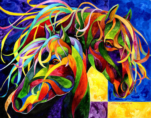 Horse Poster featuring the painting Horse Hues by Sherry Shipley