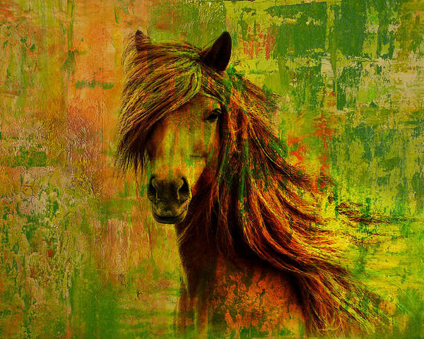Horse Poster featuring the painting Horse Paintings 001 by Catf