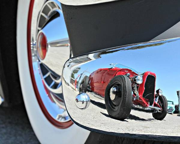 Poster featuring the photograph Hot Rod Reflecton by Steve Natale