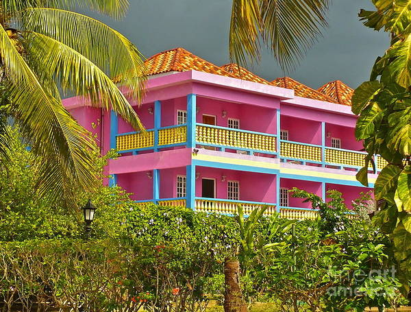 Hotel Poster featuring the photograph Hotel Jamaica by Linda Bianic
