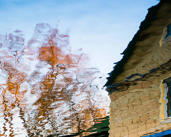 Abstract Poster featuring the photograph House By The Lake by Alexander Senin