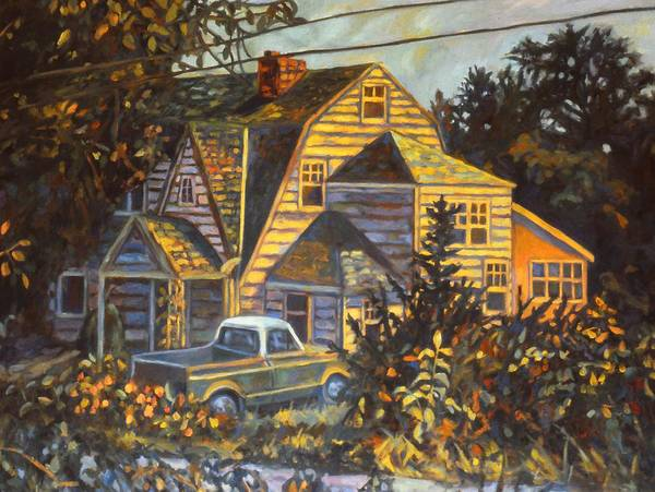 Kendall Kessler Poster featuring the painting House In Christiansburg by Kendall Kessler