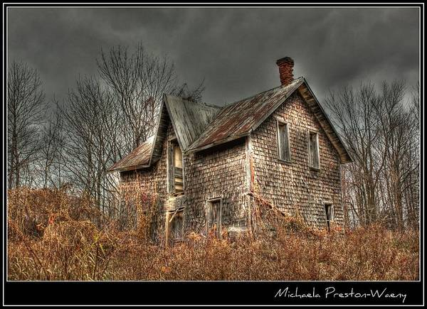 Hdr Poster featuring the photograph House On The Hill by Michaela Preston