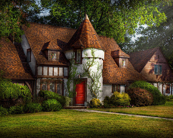 Castle Poster featuring the photograph House - Westfield Nj - Fit For A King by Mike Savad