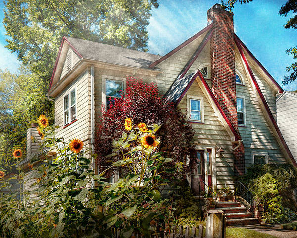House Poster featuring the photograph House - Westfield Nj - The Summer Retreat by Mike Savad