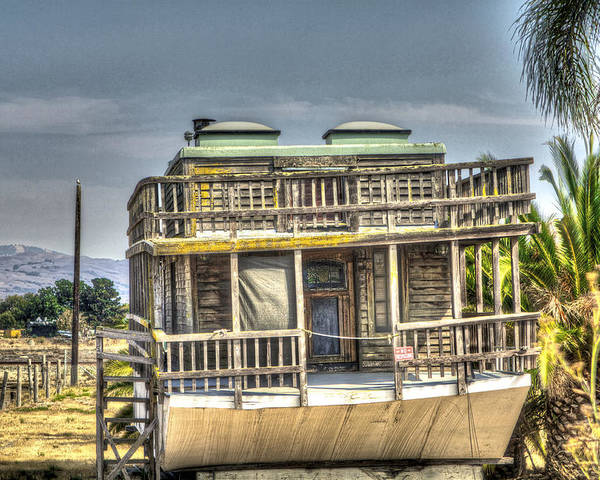 Alviso Poster featuring the photograph Houseboat 3 by SC Heffner