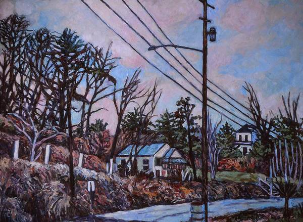 Houses Poster featuring the painting Houses in Pulaski by Kendall Kessler