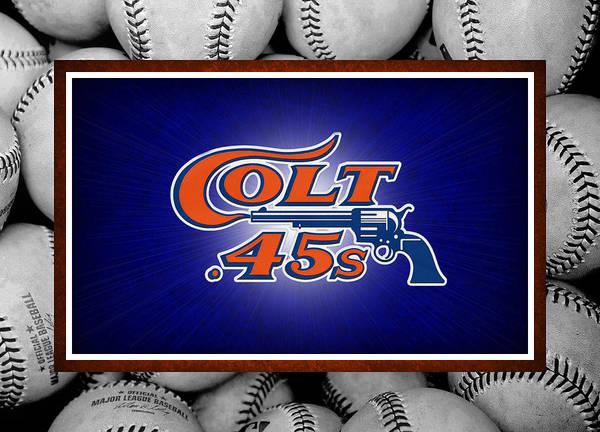 Colt 45's Poster featuring the photograph Houston Colt 45's by Joe Hamilton