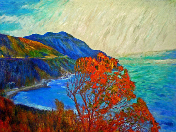 Seascape Poster featuring the painting Hout Bay by Michael Durst