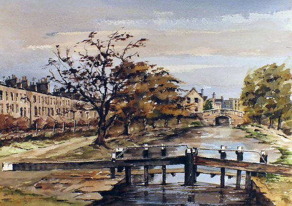 Val Byrne Poster featuring the mixed media Huband Bridge Dublin by Val Byrne