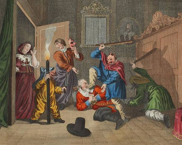 Poem Poster featuring the drawing Hudibras Catechizd, From Hudibras by William Hogarth