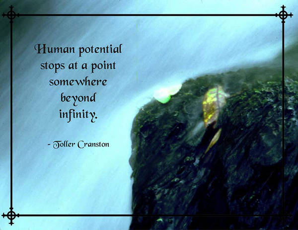 Quotation Poster featuring the photograph Human Potential by Mike Flynn
