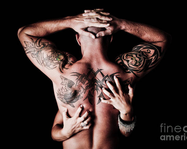 Tattoos Poster featuring the photograph Human Scratching Post by Jt PhotoDesign