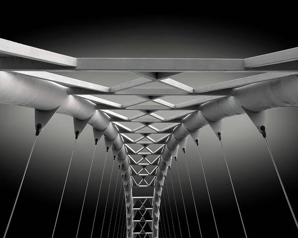 Abstract Poster featuring the photograph Humber Bridge by Ivan Huang
