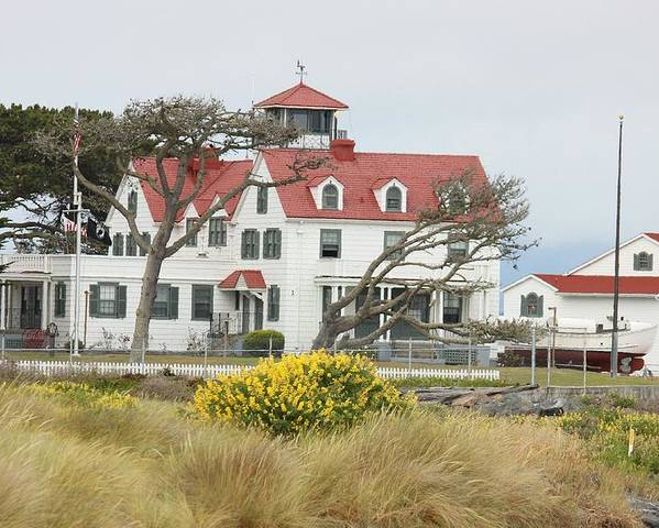The Coast Poster featuring the photograph Humboldt Bay Coast Guard Station by Douglas Miller