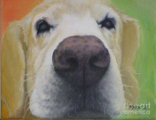 Dog Poster featuring the painting I Can See You by M J Venrick