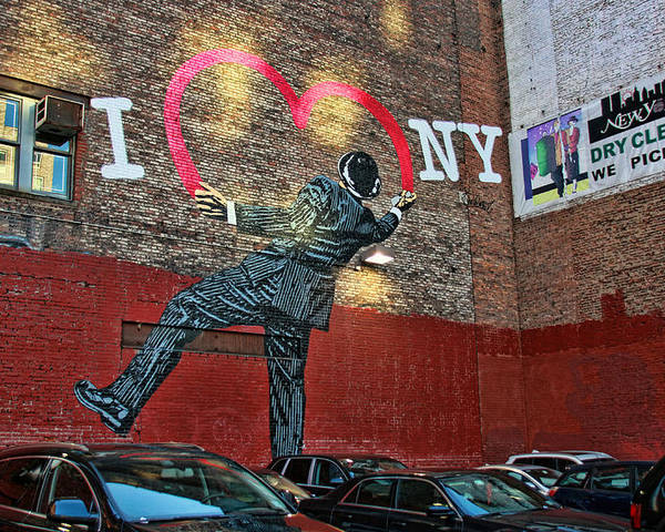 I Love New York Mural Poster