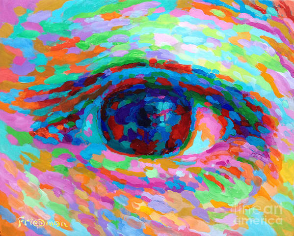 Eye Poster featuring the painting I See You by David Friedman