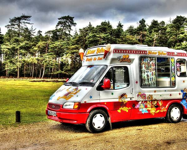 Ice Cream Poster featuring the photograph Ice Cream in the New Forest by Peggy Berger