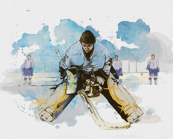 Sports Poster featuring the painting Ice Hockey by Corporate Art Task Force