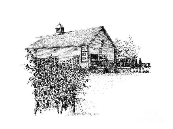 Landscape Poster featuring the drawing Ice House Winery by Steve Knapp