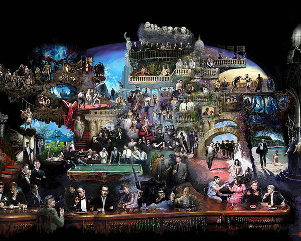 Icones Of History And Entertainment Poster featuring the mixed media Icons Of History And Entertainment by Ylli Haruni