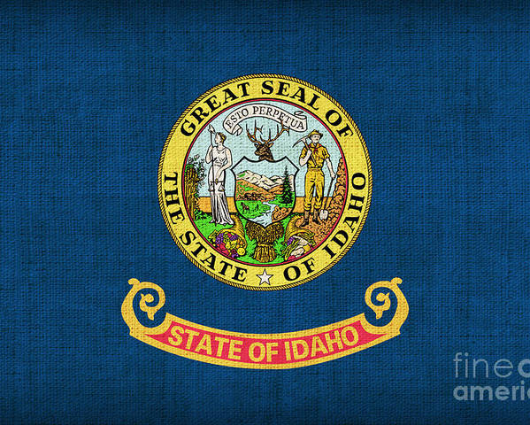 Idaho Poster featuring the painting Idaho State Flag by Pixel Chimp