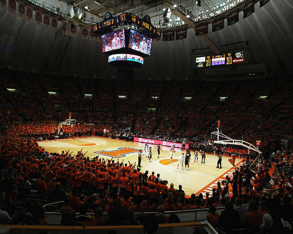Assmebly Hall Poster featuring the photograph Illinois Fighting Illini Assembly Hall by Replay Photos