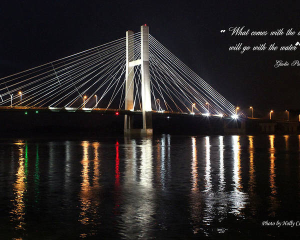 Bridge Poster featuring the photograph Illuminated Night by Holly Carpenter