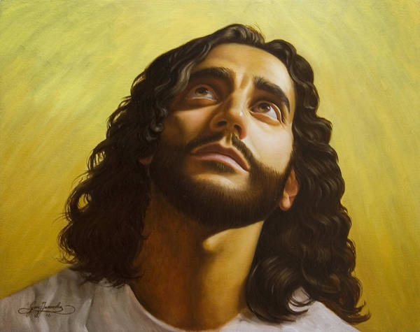 Male Figurative Poster featuring the painting Illumination by Gary Hernandez
