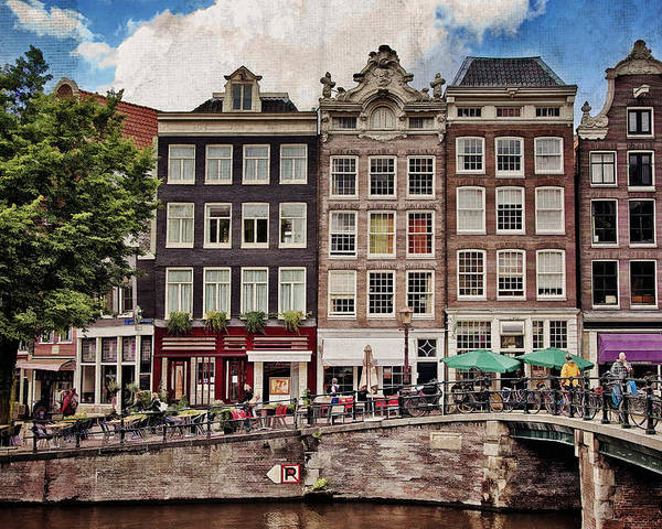 Amsterdam Poster featuring the photograph In Another Time And Place by Joan Carroll