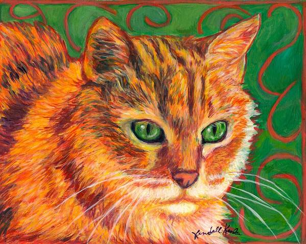 Cats Poster featuring the painting In Charge by Kendall Kessler