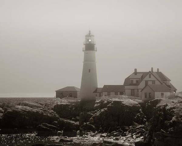 Atlantic Ocean Poster featuring the photograph In The Mist by Joann Vitali