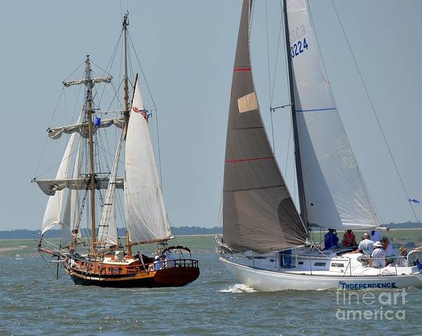 Tall Ship Poster featuring the photograph Independance by Brenda Dorman