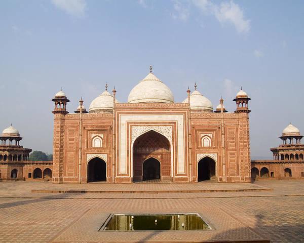 Arch Poster featuring the photograph India, Next To Taj Mahal Agra, Taj by Bill Bachmann