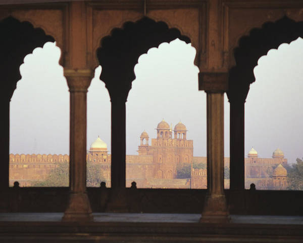 Stock Poster featuring the photograph India, View Of Red Fort From Jama by Richard Maschmeyer