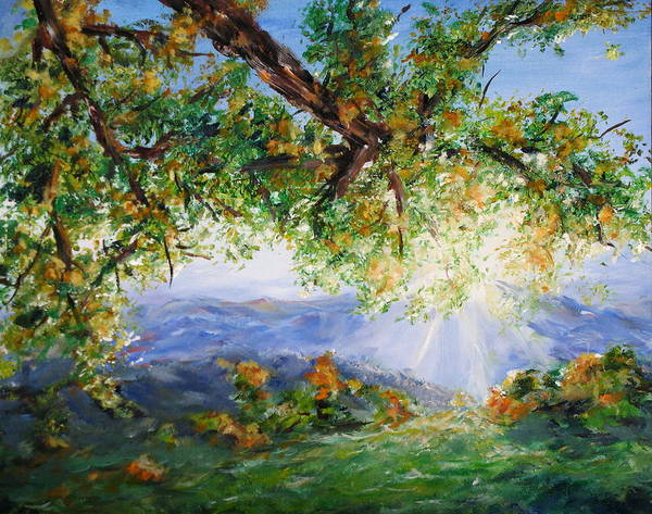 Landscape Poster featuring the painting Indian Summer by Thomas Restifo