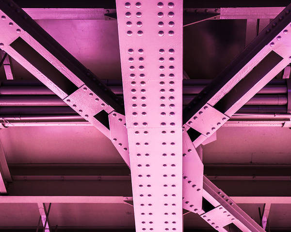 Metal Poster featuring the photograph Industrial Metal Purple by Alexander Senin