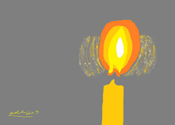 Beeswax Candles Poster featuring the painting Inner Flame by Anita Dale Livaditis