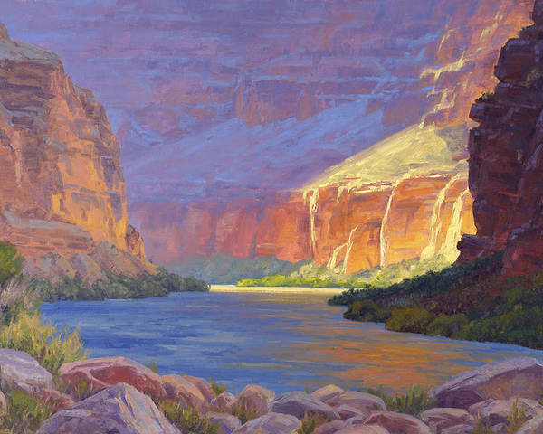 Grand Canyon Poster featuring the painting Inner Glow Of The Canyon by Cody DeLong
