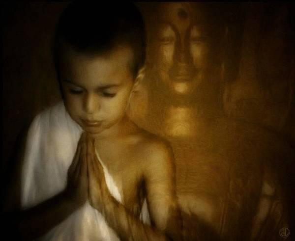 Buddist Image Poster featuring the digital art Inner Light by Gun Legler